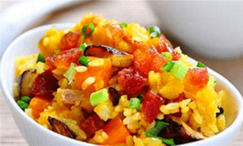 南瓜的做法、怎么做好吃_南瓜糯米饭